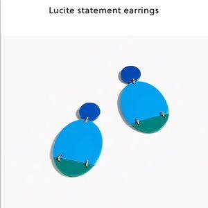 NWT JCREW LUCITE EARRINGS